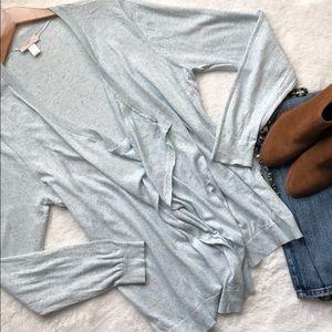 Soft blue LOFT draping cardigan 💙